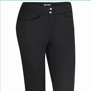 Adidas quilted women's Climawarm Golf pants black